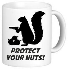 Protect Your Nuts Funny Novelty Mug Cup Gift Secret Santa Xmas Gift Present