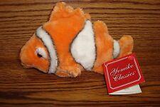"Yomiko Classics Plush-Stuffed 7"" Coral-Ocean Reef CLOWN FISH / Orange-White *NEW"