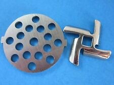 "5/16"" Meat Grinder plate disc AND knife for Rival Sunmile & Deni electric"