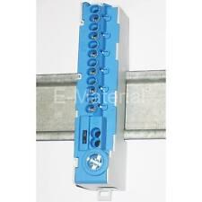 Nullleiterklemme, Sammelklemme, N-Klemme - blau - 15 Anschlüsse für Hutschiene