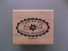 STAMPIN UP RUBBER STAMPS A GIFT FOR YOU CHRISTMAS STAMP