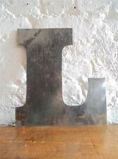 LETTER LETTERING RECYCLED METAL STEEL SIGN ANY LETTER CUSTOM MADE VINTAGE #1284