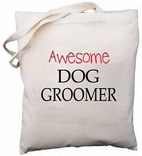 Awesome Dog Groomer - Natural Cotton Shoulder Bag - Gift