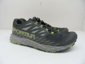 La Sportiva Men's Lycan Trail Running Shoes Carbon/Apple Green Size 8.5M