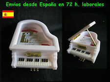 Joyero musical motivo piano color blanco