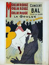 Toulouse Lautrec Lithograph Plus 6 Decompositions Moulin Rouge Mourlot 1950