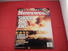 NEWSWEEK SPECIAL REPORT EDITION MAGAZINE - SHOCK & AWE - OPERATION IRAQI FREEDOM
