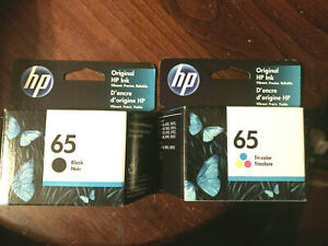 New Genuine HP 65 Ink Cartridge Combo HP 2622 3752 3755 3722 Black Tri