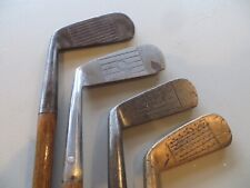 4 Antique Vintage Collector Wood Shafted Putters
