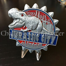 C17 New York RED JURASSIC PARK CITY Police LARGE CHALLENGE COIN