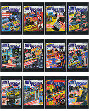 12 x Zeitschrift HiFi Vision 1987 HiFi Stereo Audio Magazin / Ganzer Jahrgang