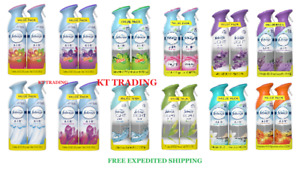 (2-Pack) Febreze AIR AUTO HOME Odor Eliminator FRESHENER ~100% Natural Spray