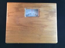 Vintage Wooden Dial Mechanical Bathroom Scale