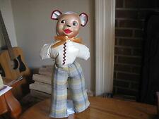 "Vintage 17"" Stuffed Bear Carnival Prize Doll 1940's"