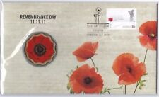 💰2011 REMEMBRANCE DAY 11.11.11 LTD. EDITION PNC WITH $5 PAD PRINTED POPPY COIN