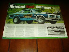 1968 HURST PLYMOUTH BARRACUDA RACE CAR  ***ORIGINAL 2008 ARTICLE***