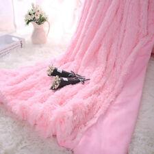 Super Soft Fluffy Faux Fur Blanket Long Shaggy Cozy Sheet Throw Bedding 1.6*2M