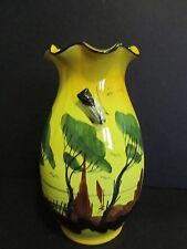 Antique Albert Ferlay Cicada Majolica Vase From Vallauris, France