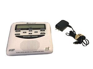 ⭐️Midland WR-120EZ Weather Alert Radio - Alarm Clock Battery Backup - NOAA