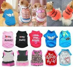 Summer Pet Clothes Breathable Vest Puppy Dress T-shirt For Small Medium Dog HOT