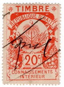 (I.B) Haiti Revenue : Customs Duty 20c (Internal)