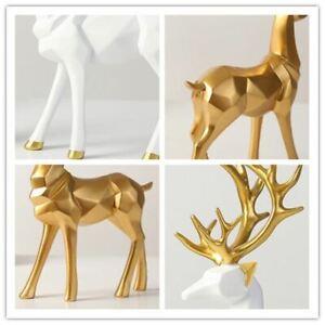 Katlot European Style Resin Deer Figurine StatueDesktop Ornament