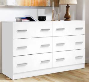 Artiss 6 Chest of Drawers Cabinet Dresser Table Tallboy Lowboy Storage Bedroom