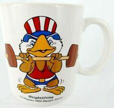Vintage Patriotic Ceramic Mug 10oz 1984 Funny Olympic Memorabilia Los Angele Cup