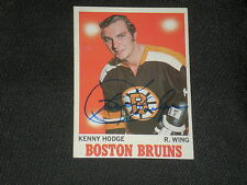 KEN HODGE 1970-71 TOPPS SIGNED AUTOGRAPH CARD #8 BRUINS