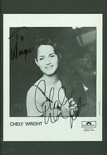 Chely Wright autograph publicity photo signed autographed matted country music