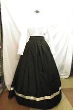 Civil War, Victorian, Edwardian, Dickens Skirt, Sash, 1 Size Ladies Ribbon Trim