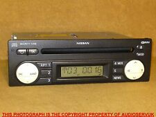 NISSAN MICRA / NOTE CD PLAYER WITH CODE + WARRANTY. FOR  2003 - 2007 (K12) CARS