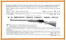 Ww Greener c1925 Heavy Target and Miniature Club Rifles Catalog