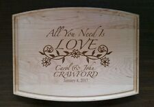 Laser Engraved Personalized Maple Cutting Board Flower Wedding Anniversary gift