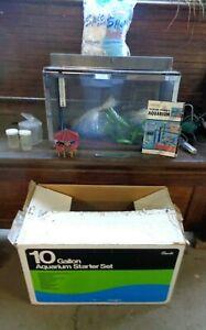 Vintage GRANTS Metaframe 10 Gallon Aquarium IN ORIGINAL BOX w/ Accessories