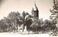Marysville KS~Marshall County Courthouse~Nice 1940s Vintage Cars~RPPC Postcard