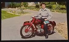 1954 - TRIUMPH TERRIER - WESTMOUNT MOTORCYCLE - ORIGINAL COLOR POSTCARD