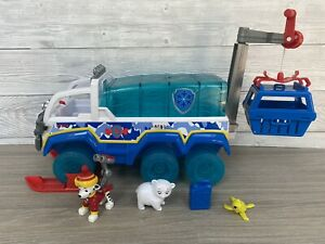 Paw Patrol Snow Rescue Arctic Terrain Vehicle Patroller With Marshall Figure