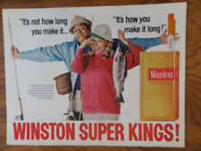 1968 Winston Cigarette Ad Couple Fly Fishing Theme