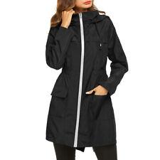 Womens Waterproof Jacket Plus Size Raincoat Hooded Rain Coats Forest Coats New