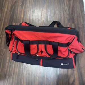 LL Bean Traveler Red Carry On Travel Bag spacious durable duffle bag
