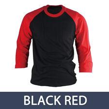 3/4  Sleeve Raglan T Shirt Top Baseball Jersey Round Tee Mens Casual Shirts NWT