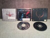 Quake/Quake 3 Arena/Quake 3: Team Arena PC Game Lot 2 Discs 3 Cases 2 Manuals