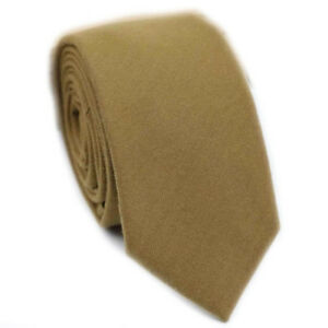 Luxury Gentlemen Mustard Yellow Country Checked Skinny Tie