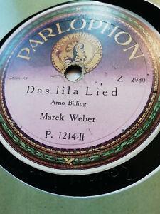 Das Lila Lied, Marek Weber auf Parlophon 30 cm, 1921