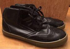 ~Radii Shoes~ Black Wax Canvas Mid Black SZ 12 EUC Lace Up