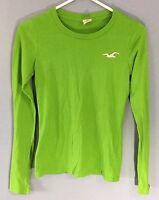 Hollister California Small Shirt Bright Green Long Sleeve Tee Top