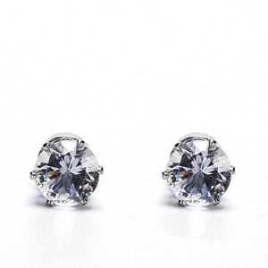 1 Pair Magnetic Stud Earrings for Men Women Clear/Black Crystal Earrings JewFCA