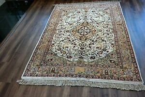 100% SILK TURKISH GOLD WASH RUG , ONE OF A KIND