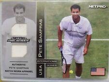 2003 Tennis Netpro Pete Sampras Rookie Match Worn Dual Jersey